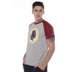 camiseta new era washington redskins cinza h019