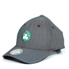 Bone Boston Celtics Mitchell and Ness snapback flextfit cinza