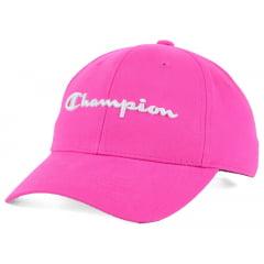 Bone Champion aba curva logo manuscrito rosa