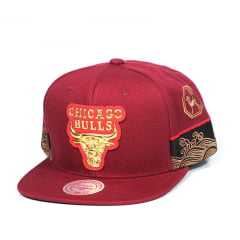 Bone Chicago Bulls Mitchell and Ness snapback gold