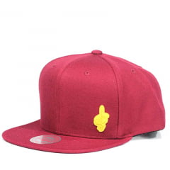 Bone Cleveland Cavaliers Mitchell and Ness snapback vermelho patch