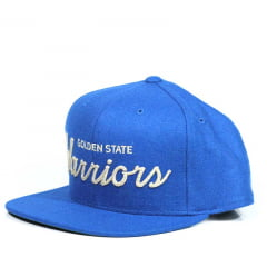 Bone Golden State Warriors Mitchell and Ness letter azul snapback