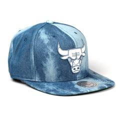 Bone Chicago Bulls Mitchell and Ness denim snapback