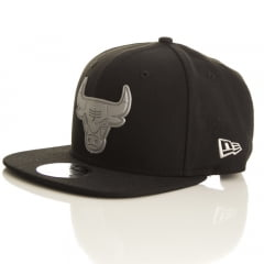 Bone Chicago Bulls New Era 9fifty logo prata