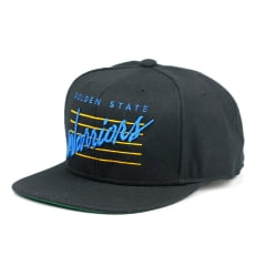 Bone Golden State Warriors Mitchell and Ness retro script