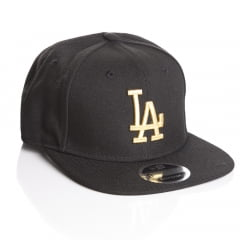 Bone Los Angeles Dodgers New Era 9Fifty logo gold
