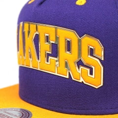 Bone Los Angeles Lakers Mitchell and Ness sonar snapback
