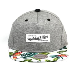 Bone Mitchell and Ness snapback print blue tropc