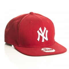 Bone New York Yankees 9fifty vermelho logo branco