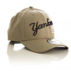 Bone New York Yankees New Era 9forty leather script