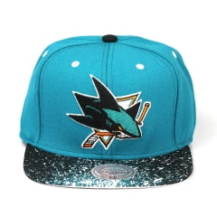 Bone San Jose Sharks Mitchell and Ness splatter 2 tone