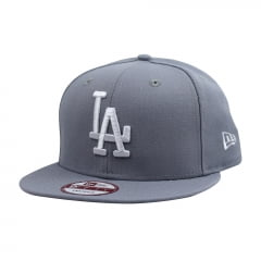 bone new era los angeles dodgers 950 basic cinza