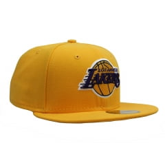 bone new era los angeles lakers 5950 basic amarelo