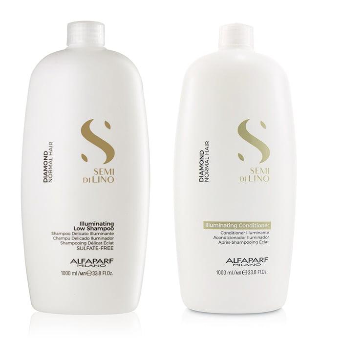 Kit Semi Di Lino Illuminating Shampoo, Condicionador 1000ml - Alfaparf