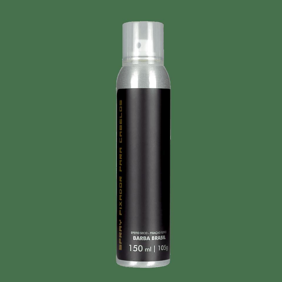 Spray Fixador de Cabelos Efeito Matte 150ml - Barba Brasil - Fixação Forte