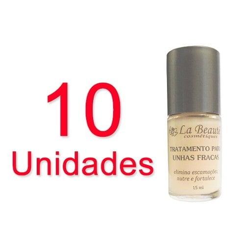 10 unid. Base de Tratamento Para Unhas Fracas 15ml - La Beauté