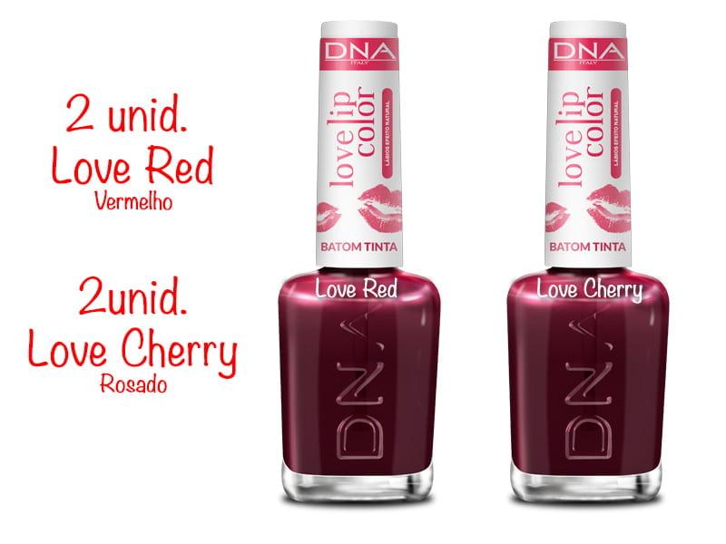 DNA - 2 Love Red - 2 Love Cherry - Batom Tinta
