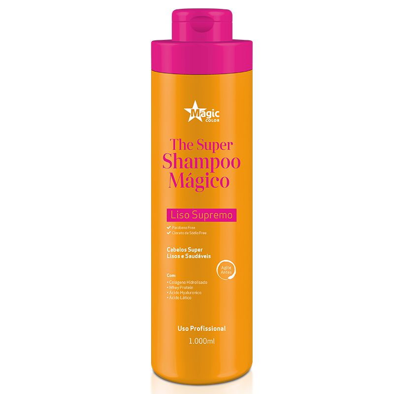 The Super Shampoo 1 Litro Magic Color Shampoo que Alisa