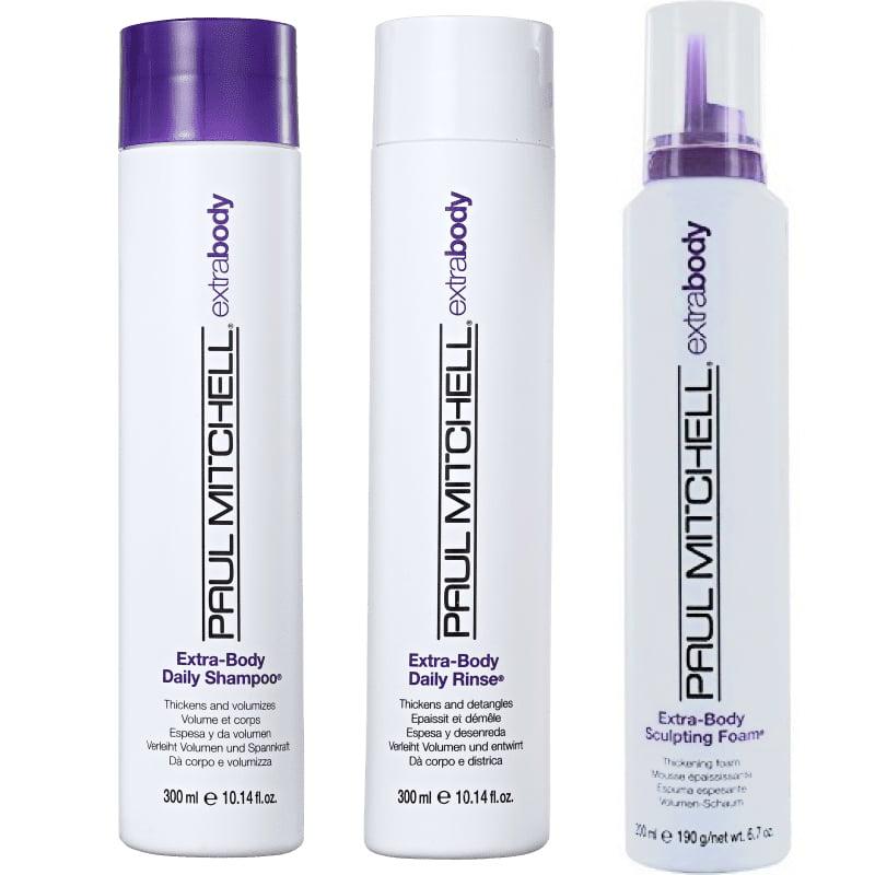 Extra-Body Kit Shampoo, Rinse e Sculpting Foam - Paul Mitchell