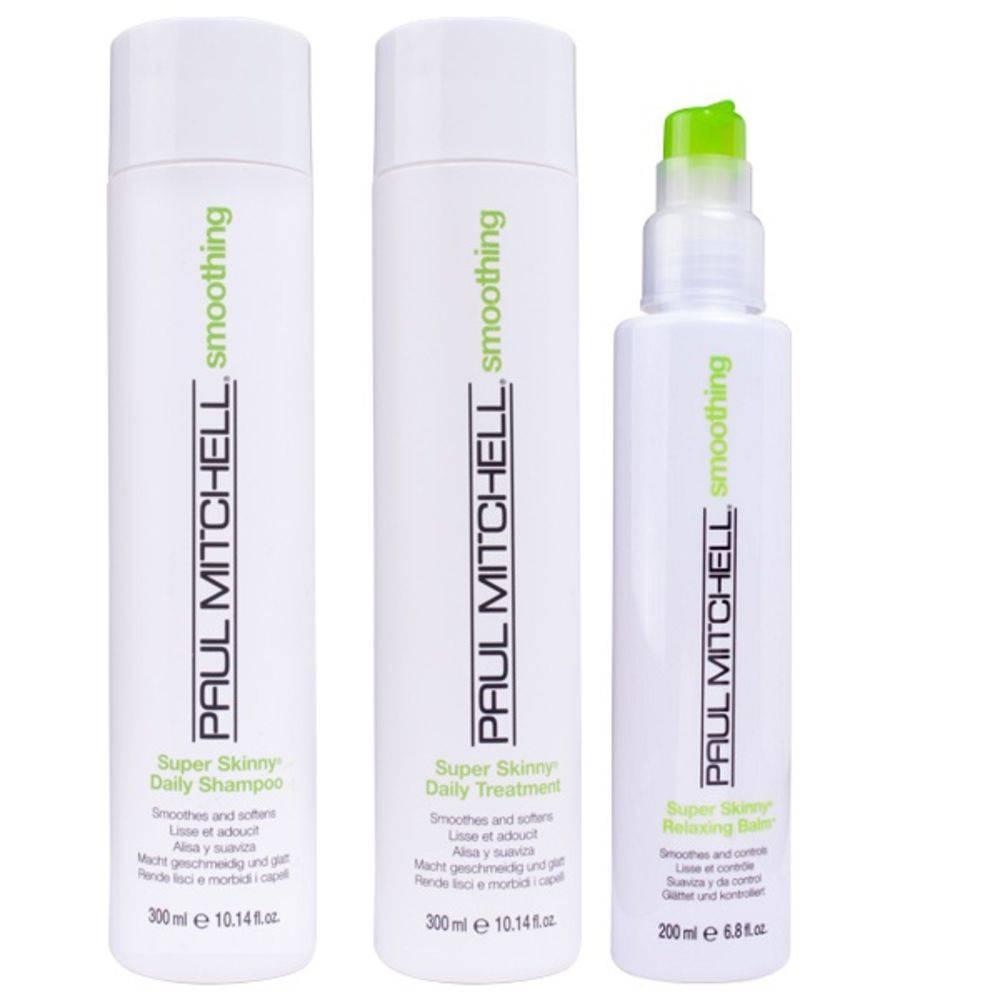 Smoothing Super Skinny Kit Shampoo, Tratamento e Balm - Paul Mitchell