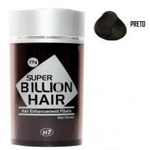 Super Billion Hair Fibers 25gr Preto - Disfarce Para Calvice