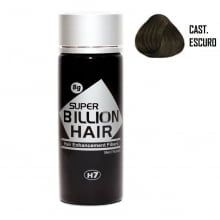Super Billion Hair Fibers 8gr Castanho Escuro - Disfarce Para Calvice
