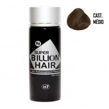 Super Billion Hair Fibers 8gr Castanho Médio  - Disfarce Para Calvice