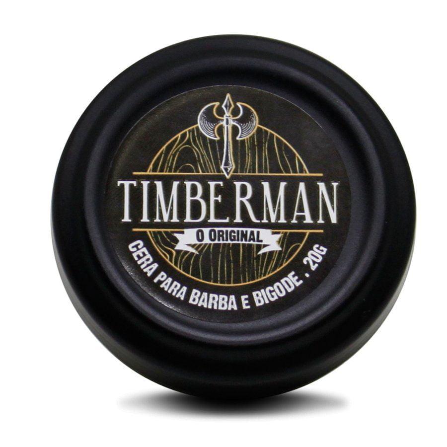 Cera Para Barba e Bigode Forte Timberman