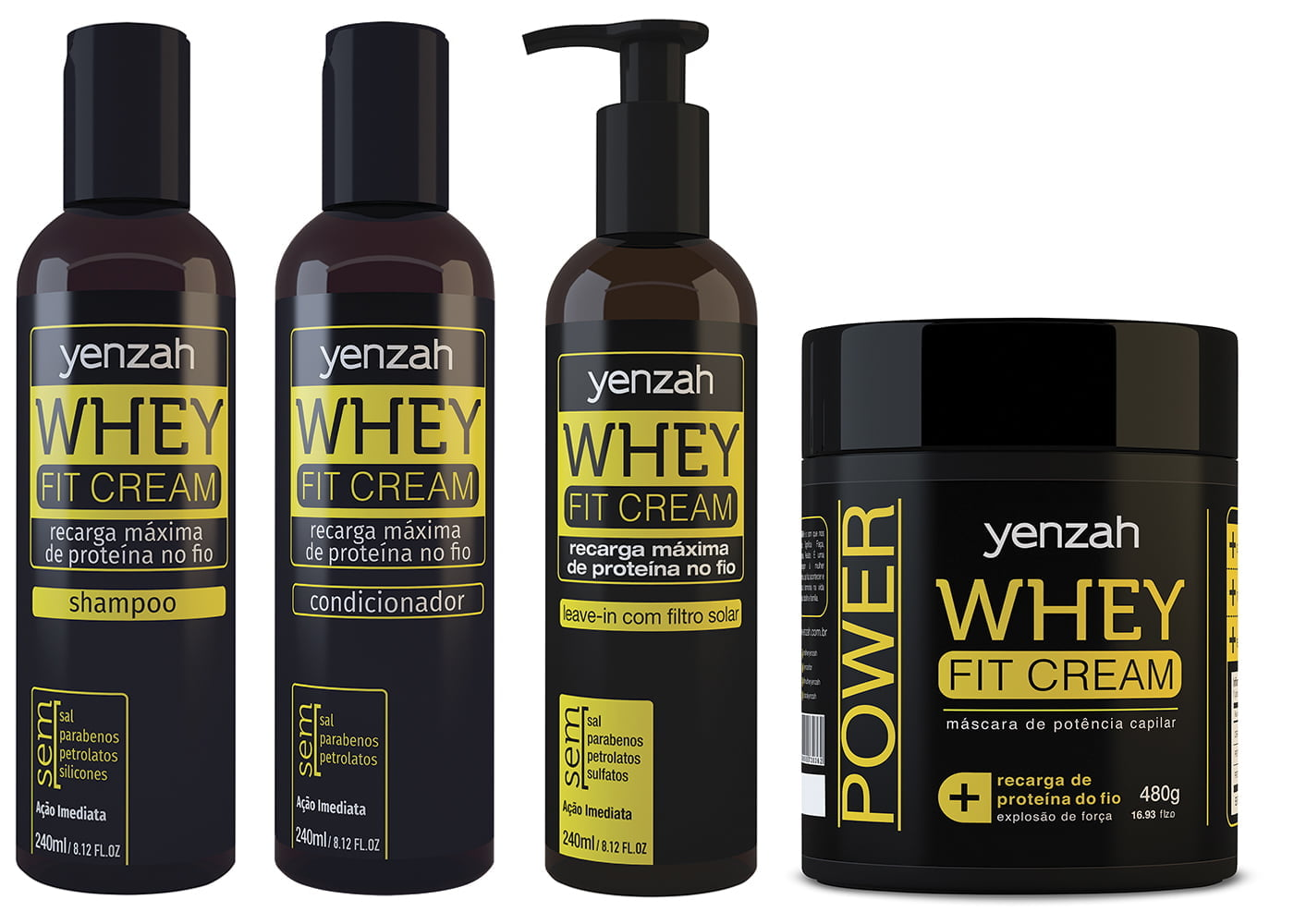 Whey Fit Cream Kit 4 produtos Yenzah