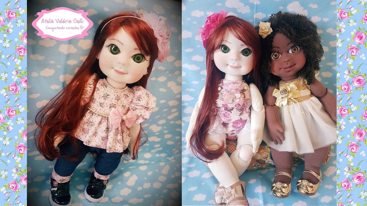Curso boneca Malu + bônus boneca Mel