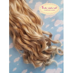 Aplique cabelo cacheado loiro