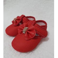 sapatinho vermelho laço flor