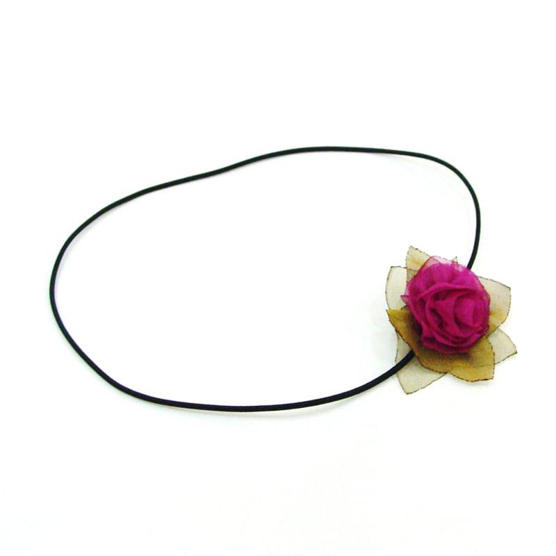 Headband flor vinho