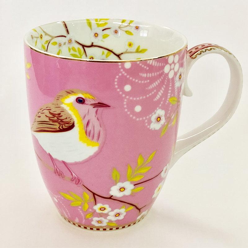 Caneca grande early bird rosa