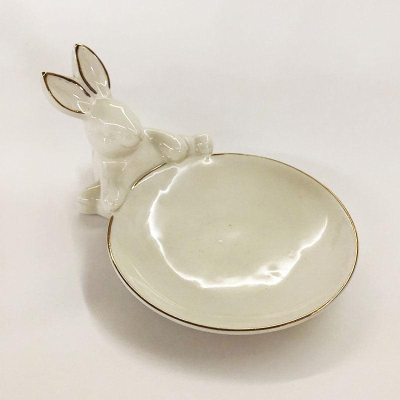 Prato sobremesa porta doces coelho