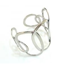 Bracelete prateado circulares