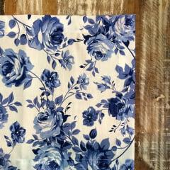 Jogo americano floral azul