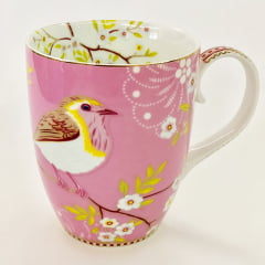 Caneca grande early bird rosa