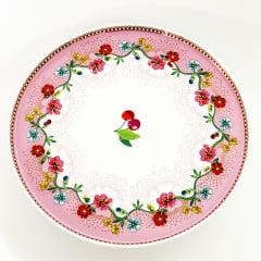 Prato para bolo pequeno Cherry Rosa