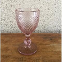 Taça bico de jaca para água rosa