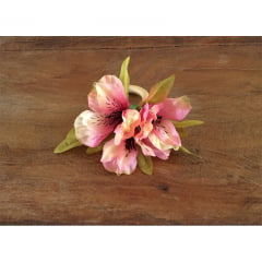Porta guardanapo flor astromelia rosa