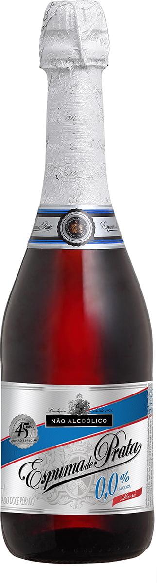 Filtrado Doce Peterlongo Espuma de Prata Rosé Zero Álcool 660ml