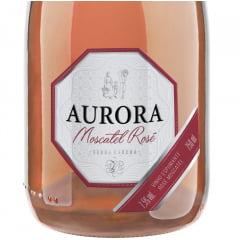Kit Espumante Aurora Moscatel Rosé 750ml C/2 taças