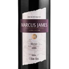 Kit Vinho Aurora Marcus James Merlot Demi-Sec 750ml C/taça