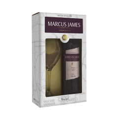 Kit Vinho Aurora Marcus James Merlot Demi-Sec 750ml C/taça