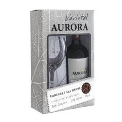 Kit Vinho Aurora Varietal Cabernet Sauvignon 750ml C/taça
