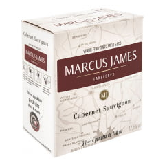 Vinho Marcus James Cabernet Sauvignon Tinto Demi-Sec Bag In Box 3000ml