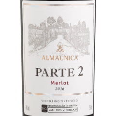 Vinho Almaúnica Ultra Premium Parte 2 Merlot Tinto 750ml