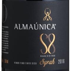 Vinho Almaúnica Ultra Premium Syrah S8 Tinto 750ml
