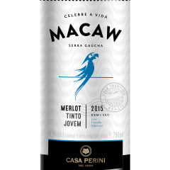 Vinho Casa Perini Macaw Merlot Tinto Demi-Sec 750ml